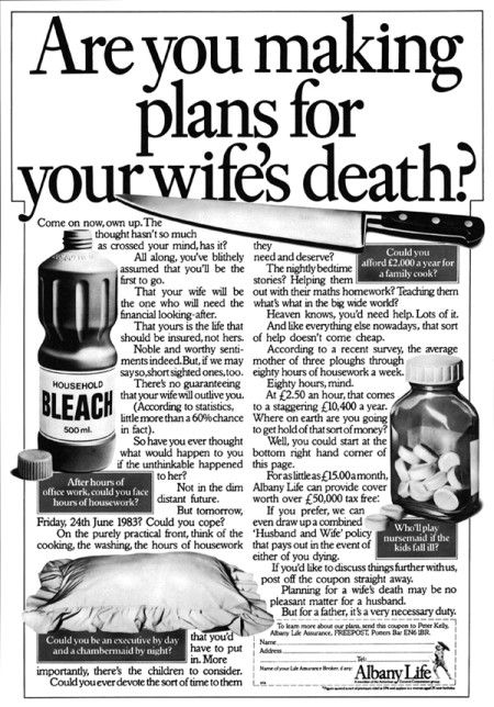 Are you making plans for your wife's death?